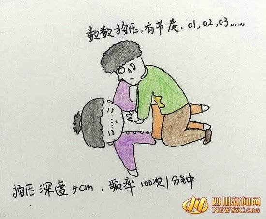 """自贡女医生手绘q版漫画 科普急救知识成""""网红"""""""