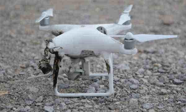 大疆无人机惨遭美国激光炮照射至熔毁坠地