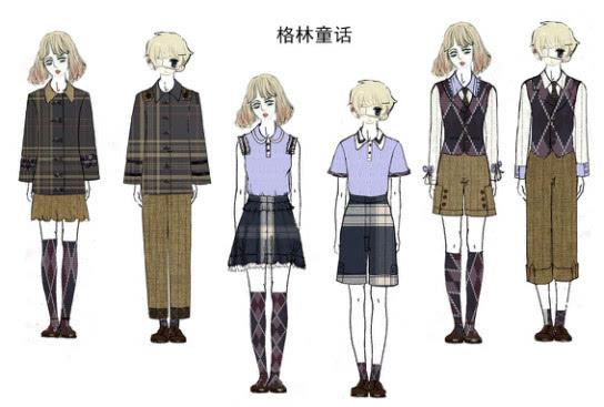美术服装校服的设计图分享展示