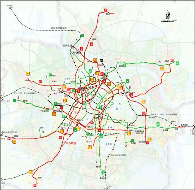 武汉远城地铁都在路上 蔡甸 阳逻马上高攀不起