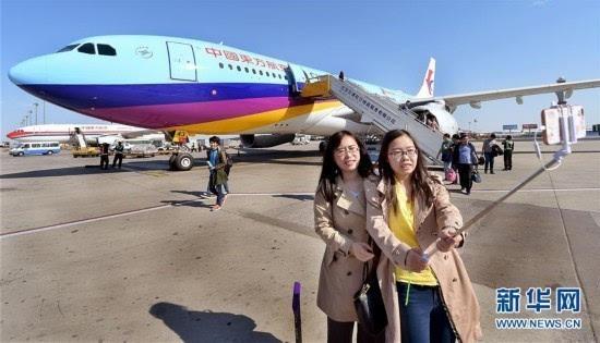 东航选用双通道宽体飞机空客a330-200机型喷绘