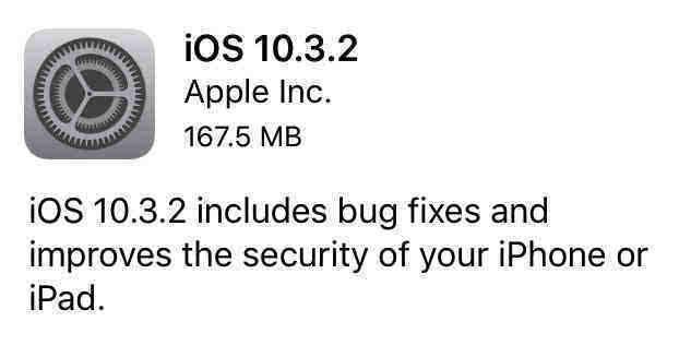 老机型快升级!苹果正式发布iOS10.3.2