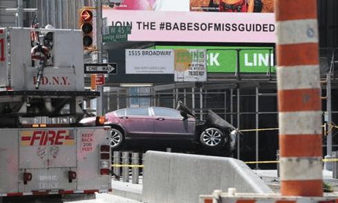纽约汽车冲撞行人 肇事者曾多次因酒驾被捕图片