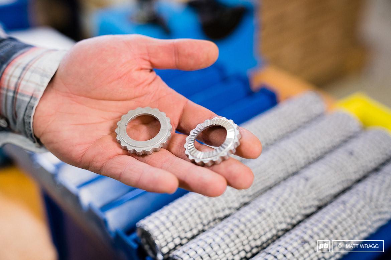 锻造成型的花鼓棘轮,外形结构上与dt