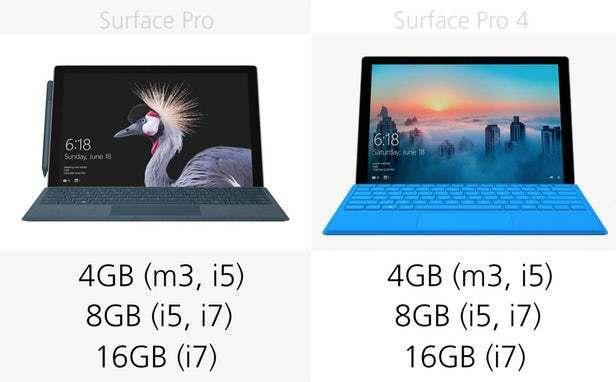 都有那些升级?前后两代Surface Pro规格参数对比的照片 - 9