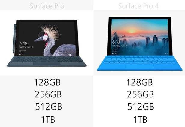 都有那些升级?前后两代Surface Pro规格参数对比的照片 - 10