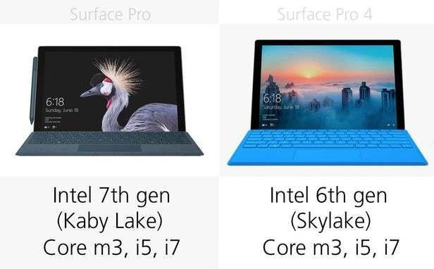 都有那些升级?前后两代Surface Pro规格参数对比的照片 - 7