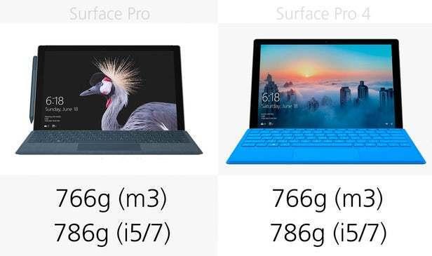 都有那些升级?前后两代Surface Pro规格参数对比的照片 - 3