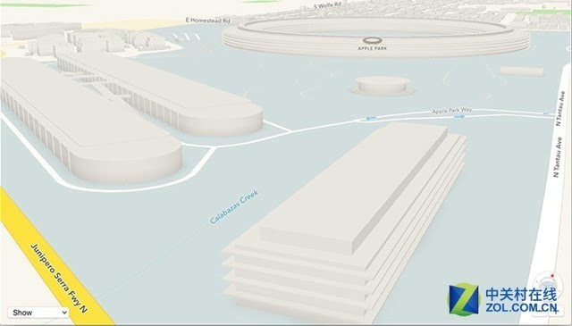 苹果地图更新加入新总部Apple Park地图