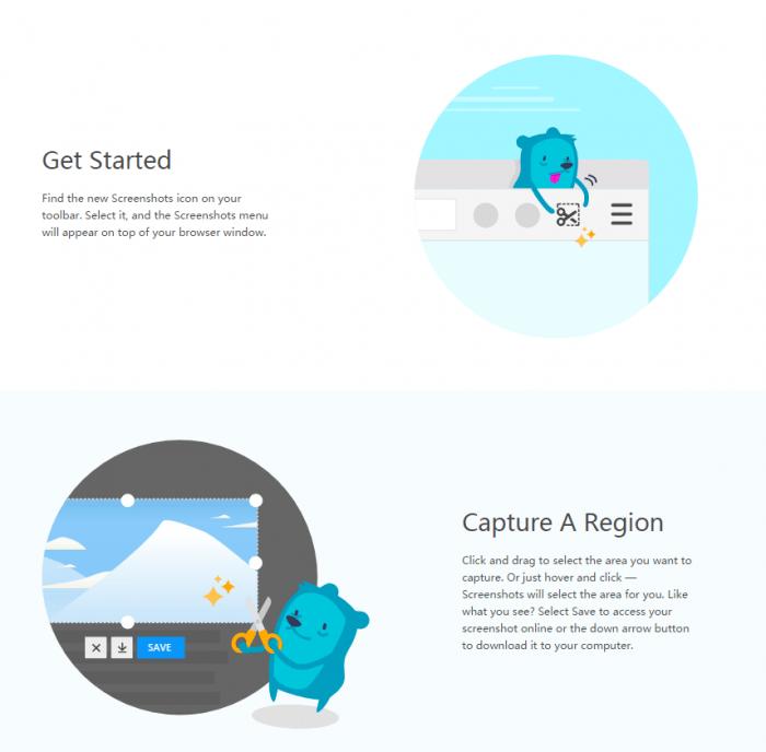 FirefoxNightly版本加入截图功能并允许用户保存和分享