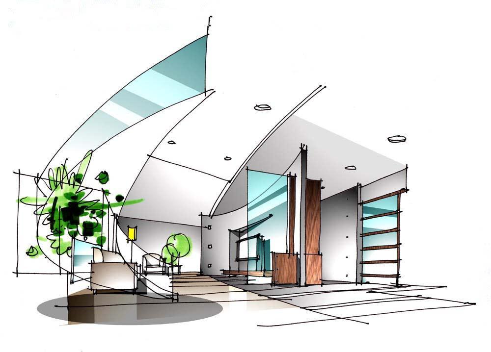 (8)走道与阳台立面图 (9)厨,卫立面图 (10)书房与卧室立面图 (11)造型