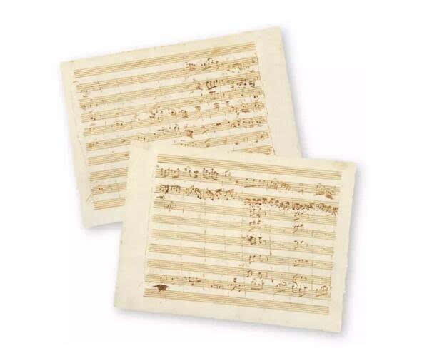 古典主义音乐谱子-D大调小夜曲 乐谱手稿