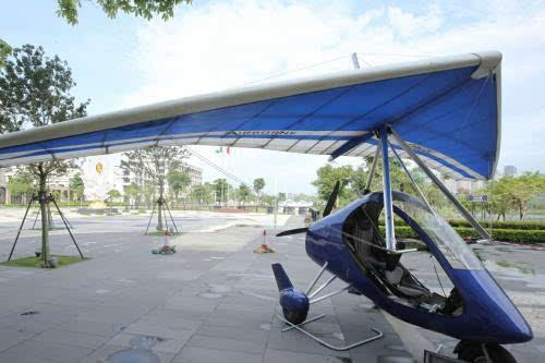 澳门大学学生胡致远研制的小型飞机。图片来源:澳门特区政府网站
