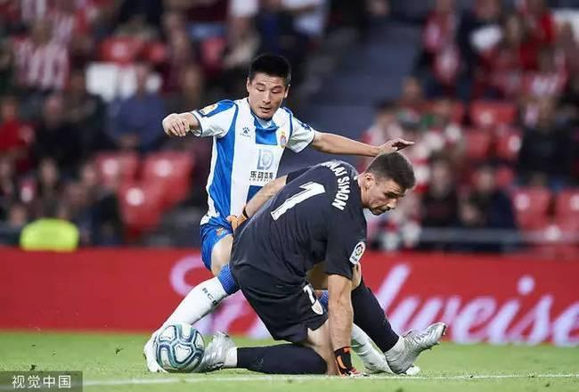 西甲:西班牙人0-3毕尔巴鄂 武磊替补又丢单刀
