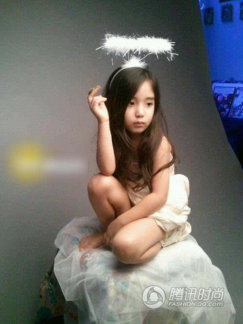 中的混血小萝莉木内舞留走红网络,日俄混血的她今年仅13岁.