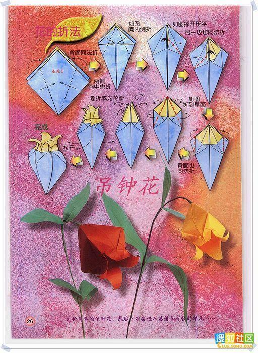 各种花的折纸方法图片