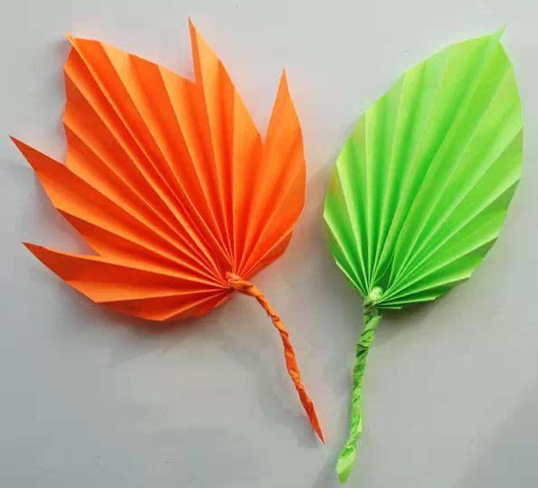 亲子手工折叶子