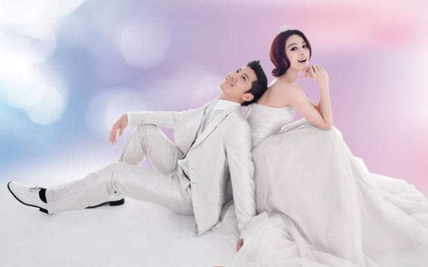 范冰冰否认与李晨恋情?范冰冰美艳婚纱照曝光图片