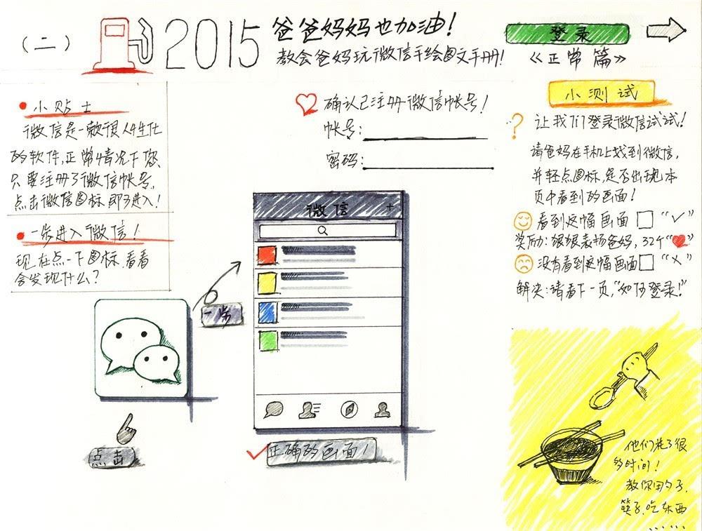 快来下载手绘版微信使用教程图 送给爸妈最好了!