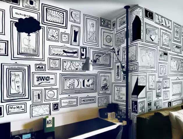 手绘墙面,一道独特的室内风景