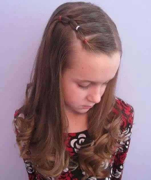 短发儿童编发图片大全-儿童发型