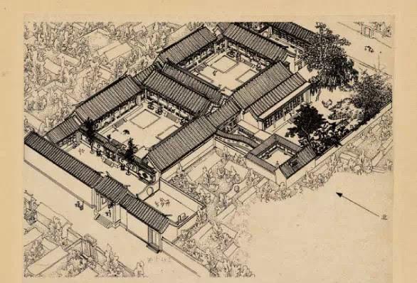 数张手绘展现京城历史之美