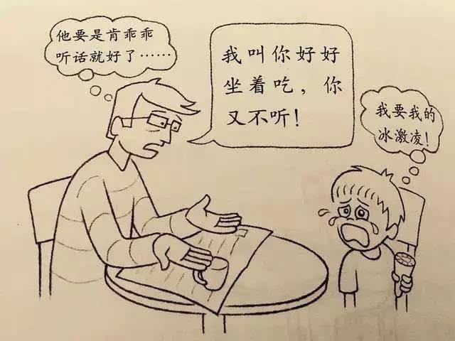 哭泣的小孩简笔画