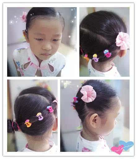 小女孩漂亮发型绑扎方法简单又可爱