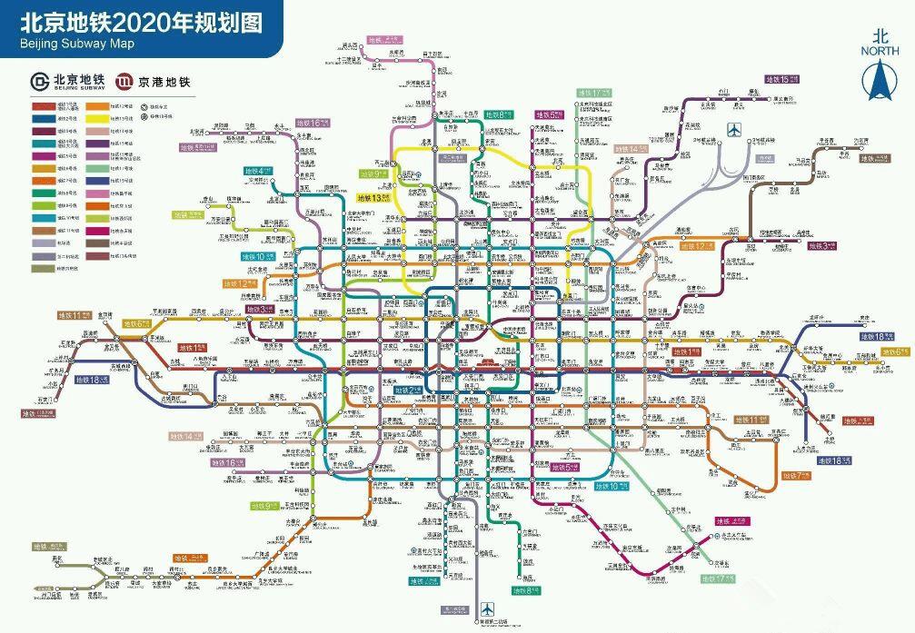 大猜想:2030年北京地铁图(非官方)