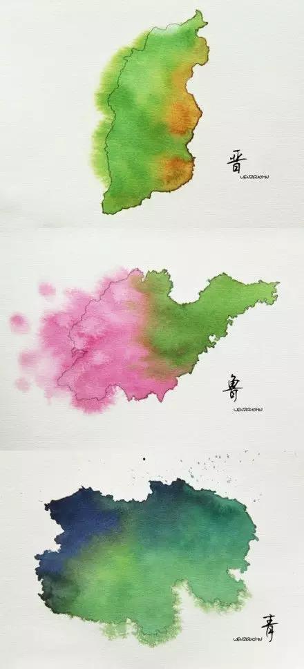 惊艳的中国式美丽-水墨地图!