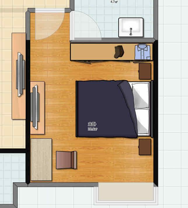 儿童卧室平面图怎样画