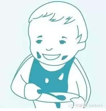 小孩拿勺子吃饭简笔画-宝宝喂养图示指南 有了它 不再担心宝宝没吃饱啦
