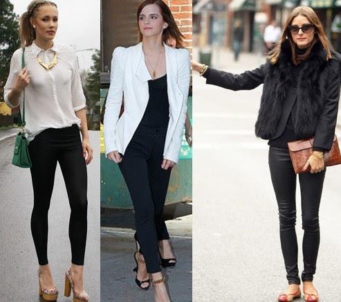 搭配黑色单鞋/裸靴/靴子……搭配一样颜色的鞋子能让