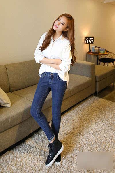 白衬衫和牛仔裤的这么搭配才最美!