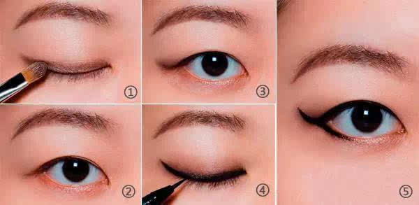 时尚的猫眼妆各种眼线画法,美貌指数爆棚!图片