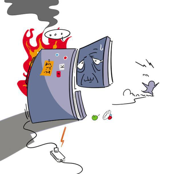 生活中,一些家庭把电冰箱、彩电、空调等功率较大的电器插在一个多用插排上,这样做其实并不安全。因为电冰箱和彩电的启动电流都很大,电冰箱启动电流为额定电流的5倍,彩电的启动电流为额定电流的7~10倍。如果电冰箱、彩电同时启动,插座接点、引线负荷太高,就会互相影响,易发生危险。   同时,电冰箱启动和运转时会产生一种电波,对彩电来说易受到干扰,使彩电图像不稳,出现噪音等问题。所以,为避免互相干扰,消除安全隐患,电冰箱、彩电不要共用一个插座板。   3.