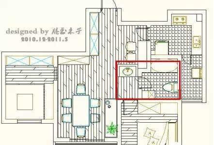卫生间干湿区设计平面图