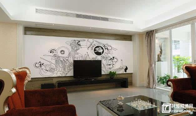 2015最流行的9款简欧风格电视背景墙效果图