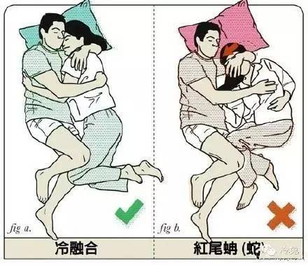 漫画 几种情侣间的睡姿,你们是左边还是右边图片