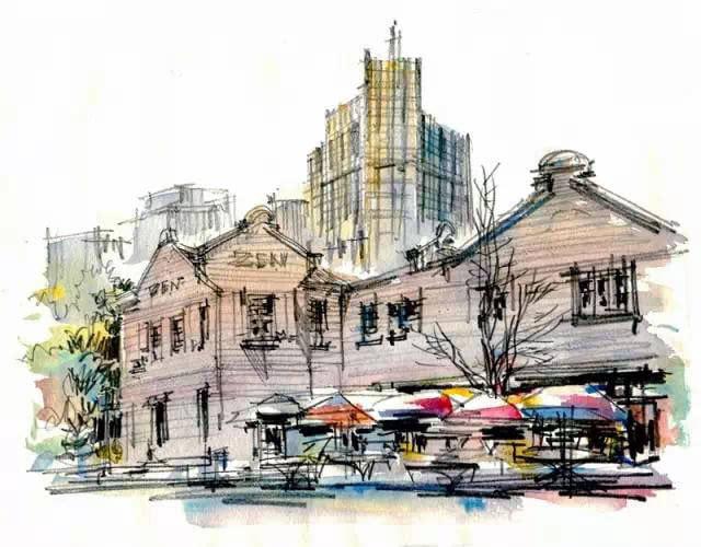 """""""灵魂旅行""""上海最著名的11个地标建筑(手绘)"""