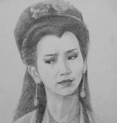 唐嫣素描铅笔画