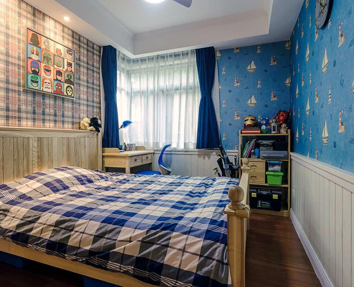 蓝色调的儿童房,充满无限童趣!