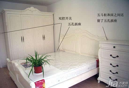 卧室的网络插座接线图