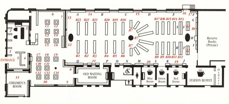 创意书店设计平面图