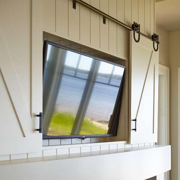 30个隐藏式电视墙设计 太奇葩了