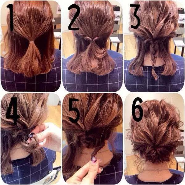 中长发也能玩出新花样,这样编发,比长发还漂亮!图片