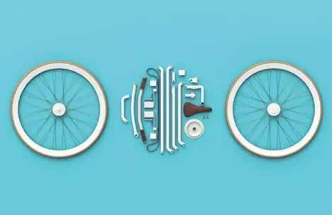 整个自行车通过侧面的旋钮进行锁定组装
