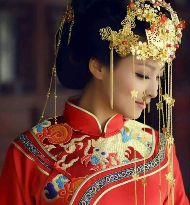 古装仙子嫁衣手绘图片