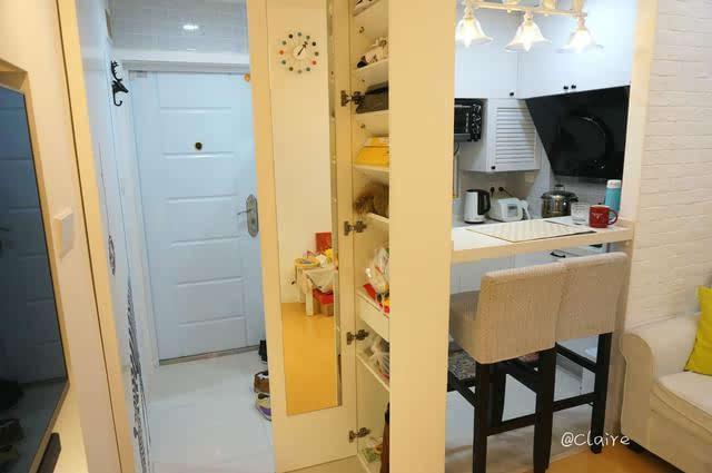 一居室内隔出客厅和厨房