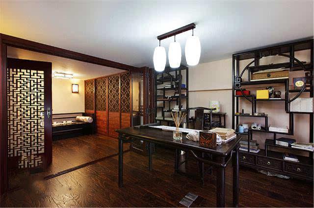 中式美式混搭风格别墅装修实景欣赏